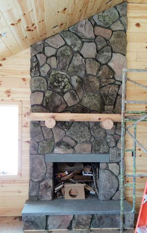 Stone Interior Fireplace Liberty NY
